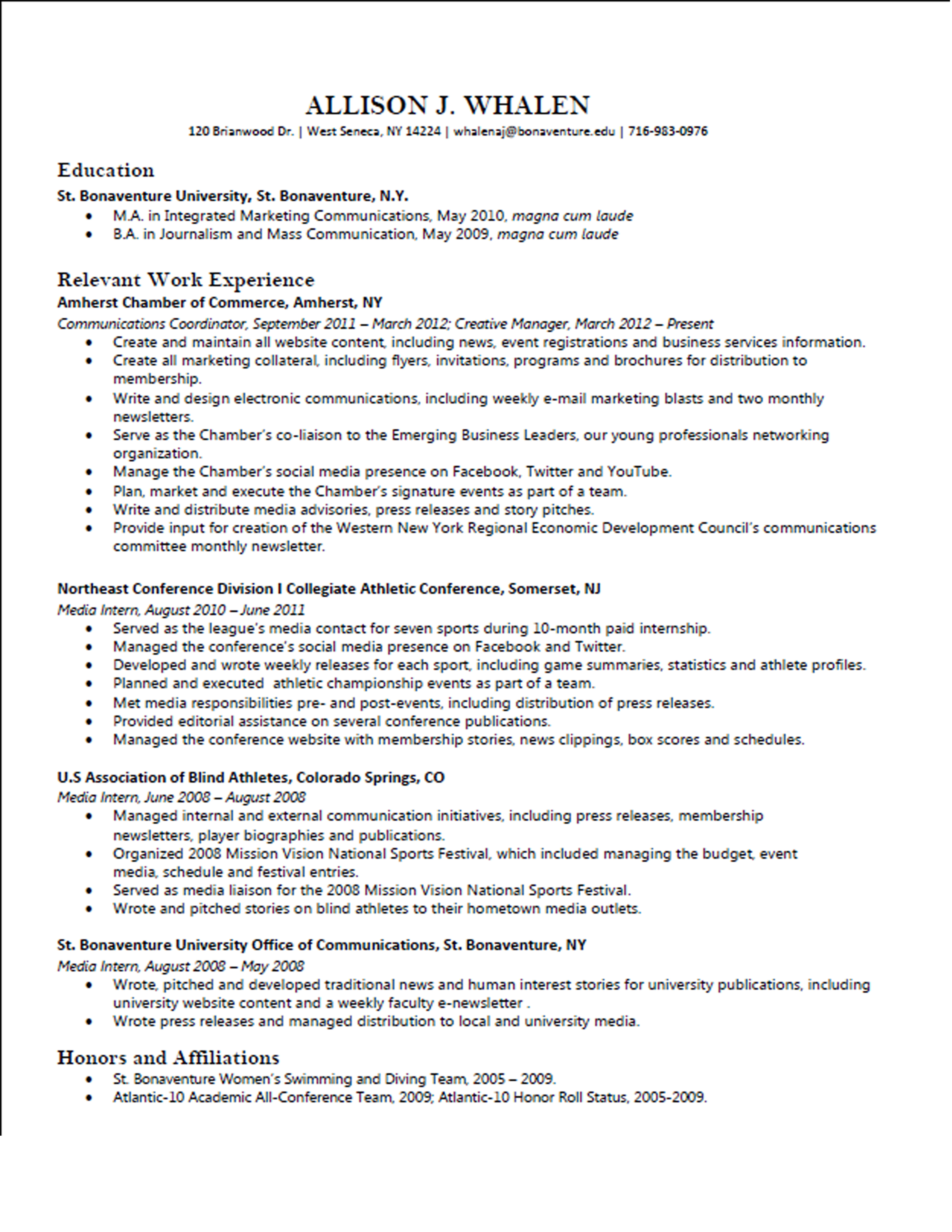 Rate my resume